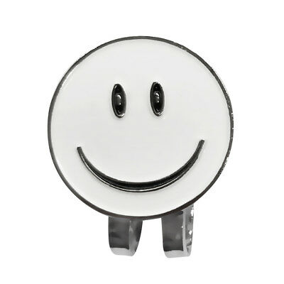 Smile Face Golf Ball Marker with Magnetic Hat Clips Golf Accessories White