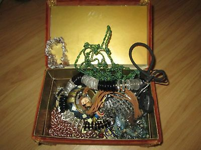 Job lot vintage jewelry with box