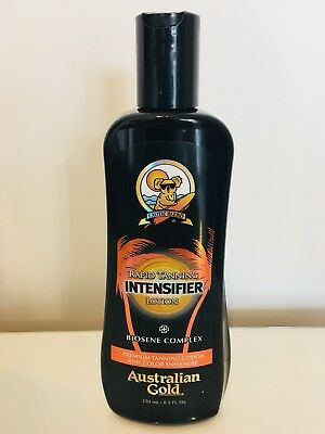 Australian gold Rapid Tanning Intensifier Lotion RRP £28 250ml Brand New