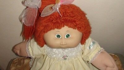 Vintage Cabbage Patch Kid - red wool hair - green eyes - with freckles