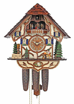 Adolf Herr Cuckoo Clock  - The Jolly Beer Drinker AH 533/11 8TMT NEW