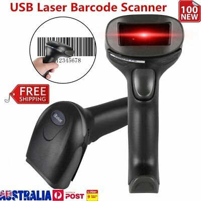 Handheld USB Wired Automatic Barcode Scanner Scanning Barcode Bar-code Reader PP