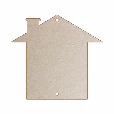 5 Craft Blanks MDF Ply Hessian, Canvas, Denim, Gold, Silver - House