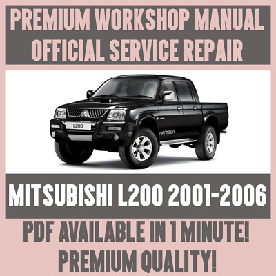 *WORKSHOP MANUAL SERVICE & REPAIR GUIDE for MITSUBISHI L200 2001-2005 +WIRING