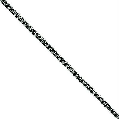 "Men's Ladies .925 Sterling Silver 3.5mm Fancy Antiqued Links 20"" Chain Necklace"