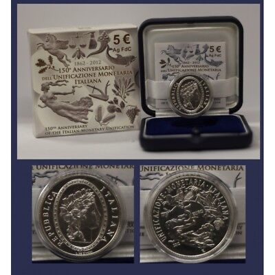 2012 Italy Coin Commemorative Unification Monetary - Ipzs - Fdc Silver