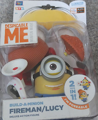 MTW Minions Fireman Lucy GROß 2-in 1 Action Figur Neu DESPICABLE ME