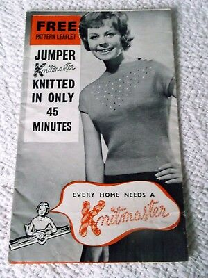 Original Vintage  Knitmaster Machine Knitting Pattern 'jumper'