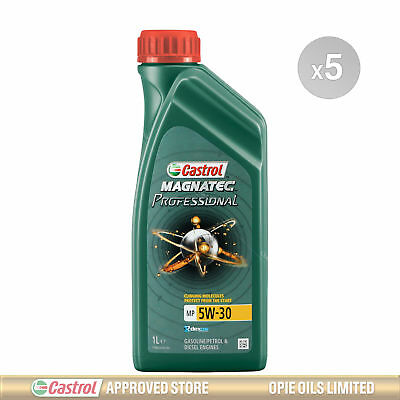 Castrol Magnatec Professional MP 5w-30 Fully Synthetic Engine Oil - 5 x 1 Litres
