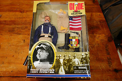 "GI JOE Teddy Roosevelt Classic Collection 12"" Action Figur Rar"