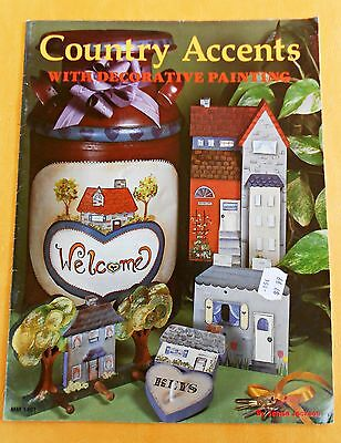 COUNTRY  ACCENTS  With Decorative Painting /1988 Folk Art Book by Jenise Jackson