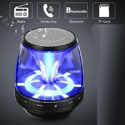 Mini Portable LED Bluetooth Speaker Wireless Bass For Smartphone Tablet PC New T