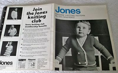 ORIGINAL VINTAGE JONES MACHINE KNITTING PATTERN No. 550 CHILDS BLAZER in 3 sizes
