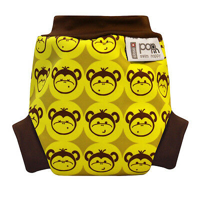 Close Parent washable pop-in swim nappy/diaper - monkey print - size small