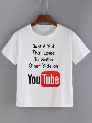 Just a Kid that loves to watch other kids on Youtube T Shirt Boys Girls Gaming