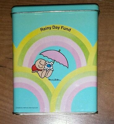Vintage Ziggy and Fuzz Tin Bank American Greetings Tom Wilson Rainy Day Fund