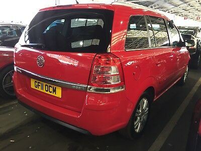 2011 Vauxhall Zafira 1.7 Cdti Ecoflex Design 1/2 Leather *spares/repairs* Smoky