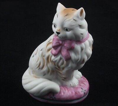 The Franklin Mint Cabinet Curio Cat Porcelain Pottery Ornament Figurine Model