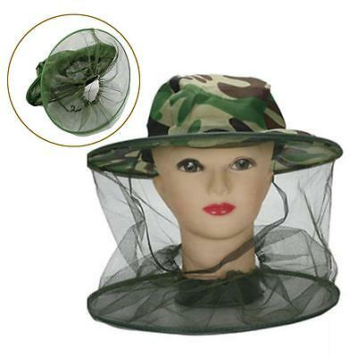 Insect Bee Mosquito Resistance Bug Net Mesh Head Face Protector Cap Sun Hat GA