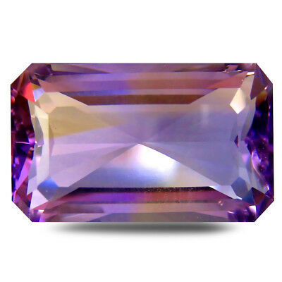 13.39 ct AAA Super-Excellent Octagon (19 x 12 mm) Purple and Yellow Ametrine
