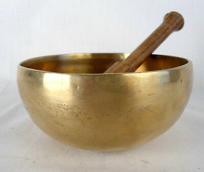Bol chantant tibétain - 330 gr. 11,3 cm 7 métaux - Népal Singing Bowl