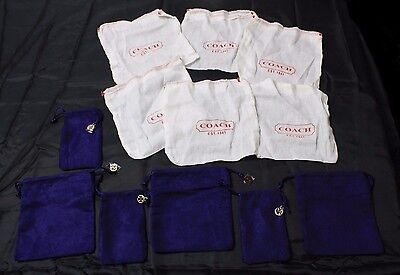 [Mix Lot] COACH (6) and (6) TORY BURCH Drawstring Jewelry Dust Bags Gift Storage