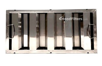 """10"""" x 20"""" x 1.5"""" Stainless Steel Hood Filter - F1020S"""