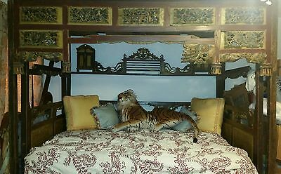 Antique Carved Balinese Bed