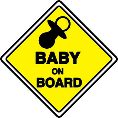 BABY ON BOARD Safety Decals Sticker Cars Window