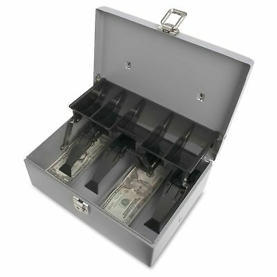 Metal Lock Box Cash Money Safe Security Tray Small Petty Storage Portable Drawer
