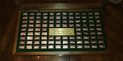 The Centennial Car Mini-Ingot Collection Sterling Silver .925 In Wooden Display