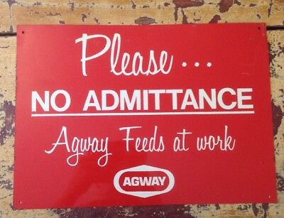 """1970's 14"""" Agway Feeds Sign"""