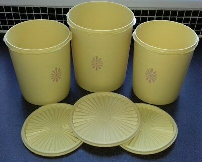 Tupperware Containers X 3 - Yellow - Harvester