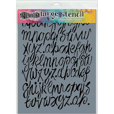 "NEW Dyan Reaveley's Dylusions Stencils 9""X12"", Modern Script Large"