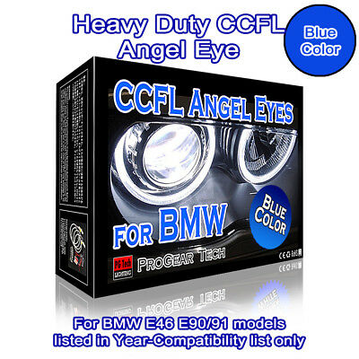 Heacy Duty 30000K Blue BMW CCFL Angel Eyes Halo Rings E46 E90 E91 Non-projector