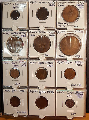 120 Selected Egypt Coins In An Album From Year 1844 To 2005 - 38 Off Unc