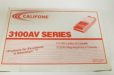 Califone 3100AV Cassette Player Recorder - NEW