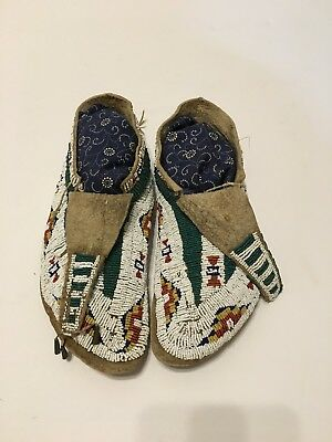 Sioux Fully Beaded Moccasins Circa 1880