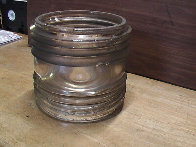 """Large Maritime Fresnel Lens, Diameter: 5""""; Height: 5.5"""", Weighs Over Four Pounds"""