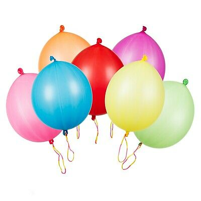 Large Multi Coloured Punch Balloons Pack Of 30 Party Bag Fillers Children's Toys