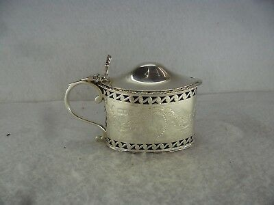 Regency Style Solid Silver Mustard Pot, London 1915