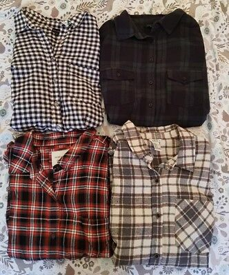Selection of women's checked shirts 10-12 New Look/ Forever 21