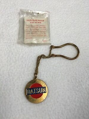 Datsun Vintage Key Ring 24kt Gold Plated Chain Style