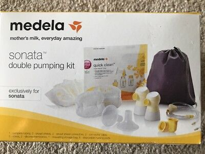 Medela Sonata Double Pumping Kit #68053 BRAND NEW FACTORY SEALED free shipping
