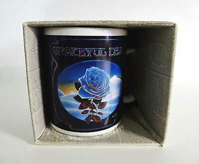 Grateful Dead Coffee Tea Mug 1978 Winterland Closing Blue Rose Mouse Kelley Art