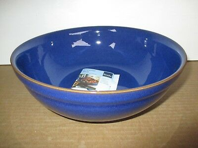 Denby Imperial Blue Medium Pasta/Salad/Serving Bowl New First Quality