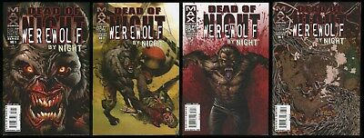 Dead of Night Featuring Werewolf by Night comic full set 1-2-3-4 lot Marvel MAX