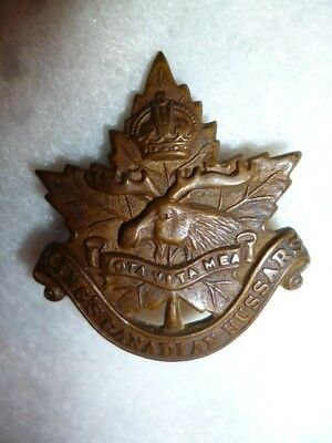 C25 - Scarce King's Canadian Hussars Collar Badge - Canada, Scully Maker