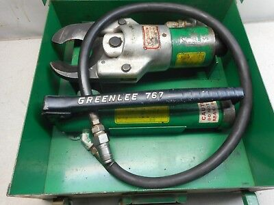 GREENLEE 750 and 767 HYDRAULIC CABLE CUTTER AND 767 PUMP