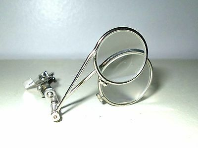 Antique Behr Easy On Double Jewelers Loupe Magnifying Glass Vtg Retro Steampunk